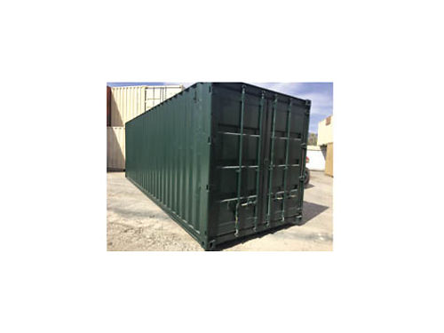 REFURBISHED 25 STORAGE CONTAINER Fresh Dark Green paint wind and water tight condition 2350