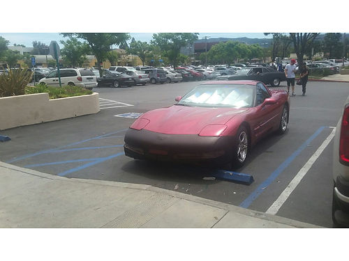 2001 CHEVY CORVETTE auto Rare Ruby Red - only 1 in 10 made blk lthr new HP Pirellis wchrm whls