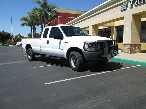 2002 FORD F350 EXT CAB 4X4 XL 73 Powerstroke Diesel long bed 92K mi bedliner tint windows Mic