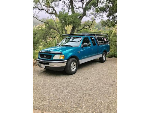 1998 FORD F150 EXT CAB V8 47L auto167K mi AC smogged  current reg camper shell wlumber rac