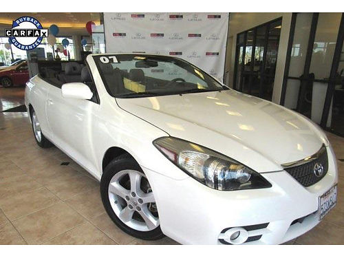 2007 TOYOTA CAMRY SOLARA convertible - clean carafax w services 1 owner auto power topoptions