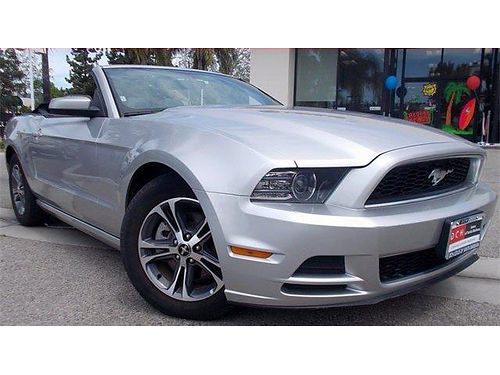 2014 FORD MUSTANG Convertible - Only 15500 Miles clean carfax 1 owner auto lthr mint 317228