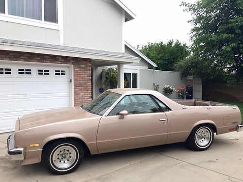 1985 CHEVY EL CAMINO auto V8 97500 orig miles brand new tires  trans Alpine stereo completel