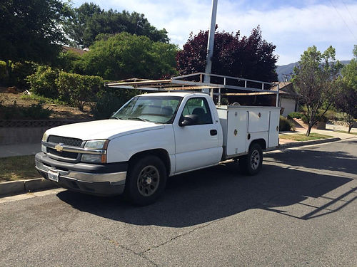 2005 CHEVY 1500 UTILITY TRUCK wlumber rack auto V8 locking boxes tow pkg AC stereo runs gre