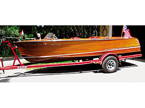 1957 CHRIS CRAFT 17 twin cockpit custom roundabout under 400 orig hrs rebuilt Hercules 6 twin