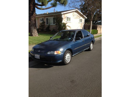 1995 HONDA CIVIC 4 cyl auto 150k miles orig very strong car gas saver 2200 obo - 714-910-1615