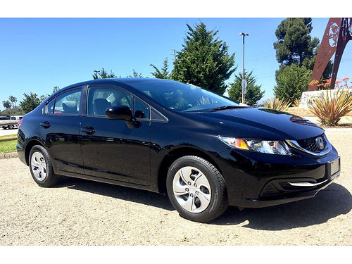 2014 HONDA CIVIC LX 324522 fully loaded back up cam NS new tires mint cond Facty wrnty Carf
