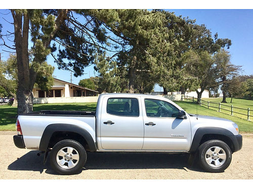 2010 TOYOTA TACOMA DOUBLE CAB 817286 PreRunner pdl pw pm ac cd tow pkg bedliner clean tit