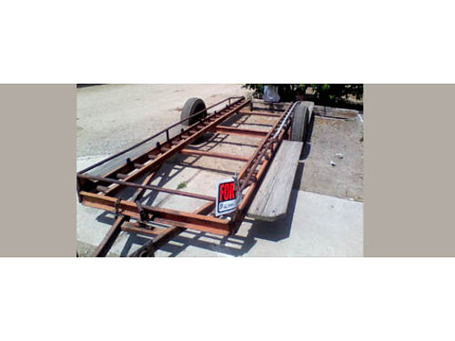 4 BIN TRAILER you can haul avocados lemons oranges works great good cond ready for work 1700