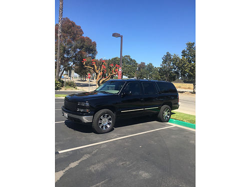 2001 CHEVROLET SUBURBAN LS blk V8 auto cloth int 3rd row seat seats 9 people new pnt tires