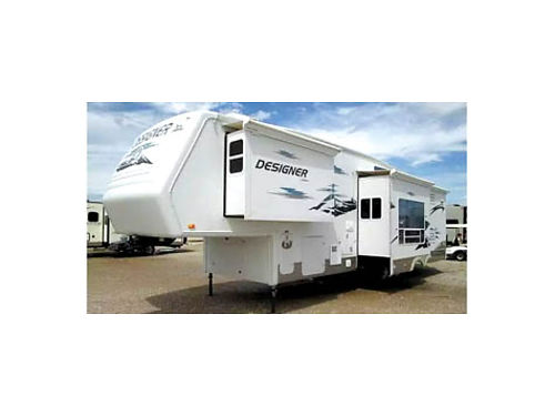 2006 JAYCO DESIGNER 5TH WHEEL 34 3 slide outs sat dish surround sound bthrm - shwr  toilet sep