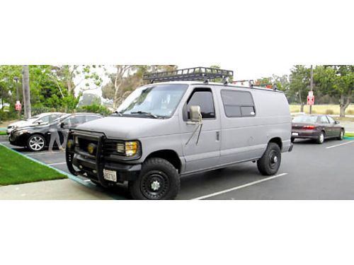 1996 FORD E350 CARGO VAN Auto V8 73L diesel fully loaded seats 4 rear futon camping ready Y