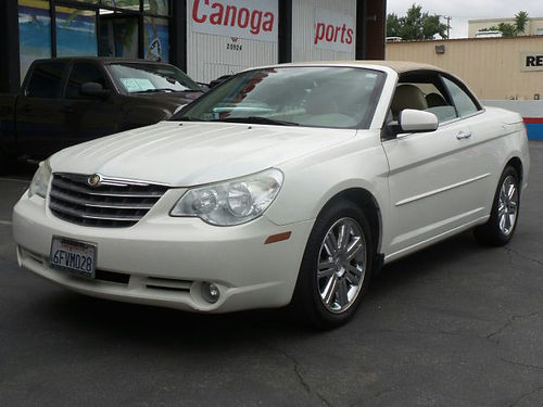 2008 CHRYSLER SEBRING Limited - low miles convertible 35L 6 cyl auto leather seats full power