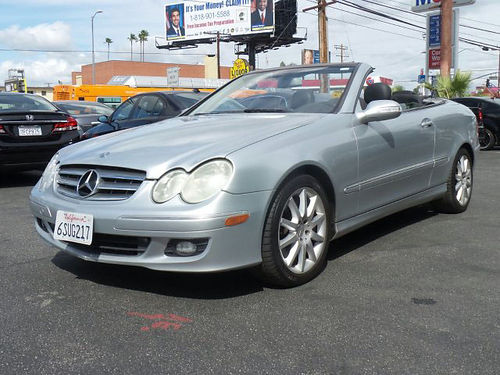 2007 MBZ CLK CABRIOLET 35L - 6 cyl 100k miles leather convertible loaded very clean 223384