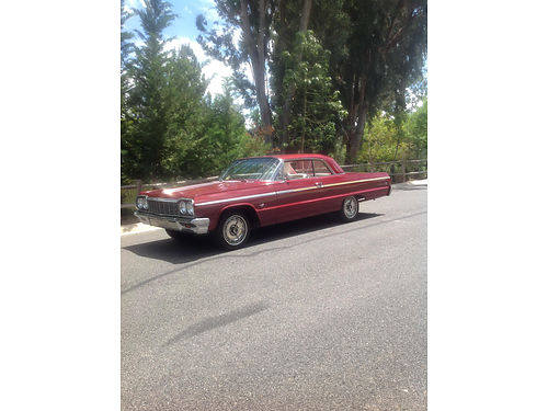 1964 CHEVY IMPALA SS orig number matching 327 V8 300 hp Orig window sticker Factory 4 spd tac