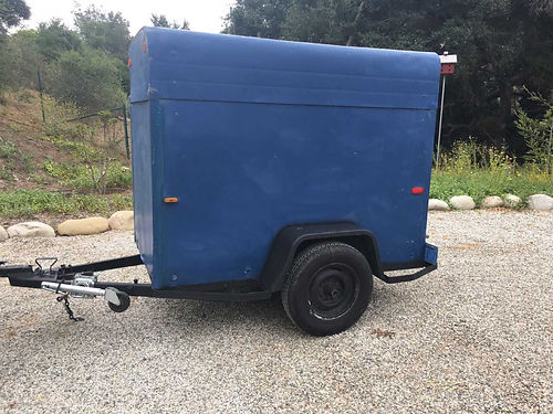 ENCLOSED TRAILER 4 x 7 lockable good tires wspare 2 ball hitch tongue jack nice clean tra