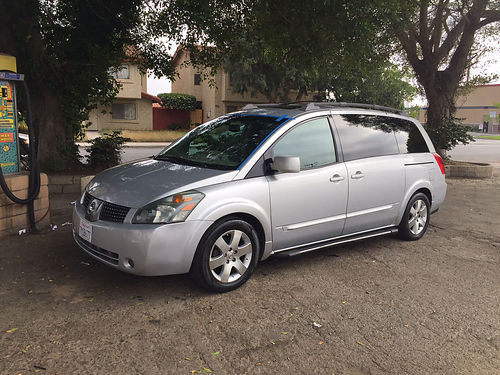 2004 NISSAN QUEST S Auto 6 cyl lthr all pwr pwr sliding doors 160K mi smogged cold ac Navi