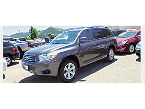 2009 TOYOTA HIGHLANDER - V6 Auto loaded alloys 96K miles CD 3rd row seat roof rack 084445