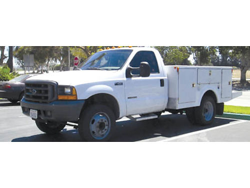 1999 FORD F450 UTILITY BODY Super duty AC new tires auto Powerstroke diesel 73L low miles ex