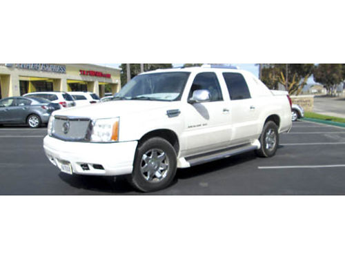2005 CADILLAC ESCALADE TRUCK auto V8 100K mi lthr back up cam all power AC CDDVDNavi well