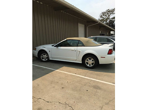 2002 FORD MUSTANG CONVT auto V6 all power new tires CD AC everything works runs great good