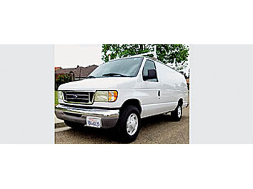 2003 FORD E350 - Turbo Diesel Cargo Van AT AC 91K miles tow pkg in xlnt cond- like new 1 Ton