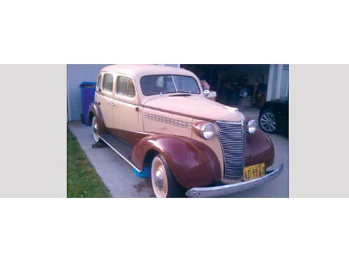 1938 CHEVY MASTER DELUXE 4 dr orig 216 straight 6 intact w orig old 6V cloth wiring trumpet horn