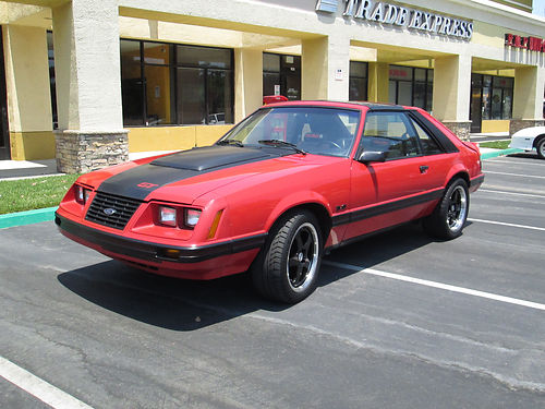 1983 FORD MUSTANG GT 5 spd 50L V8 all pwr t-tops new headers carb MSD ignition tires  wh