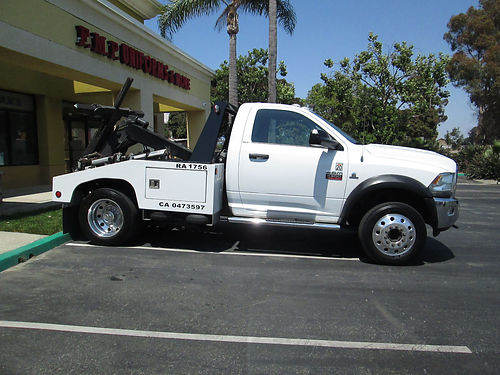 2012 DODGE RAM 4500 Repo Truck auto Cummins Diesel 175K mi one owner good cond good tires du