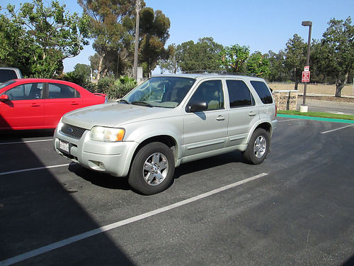 2003 FORD ESCAPE LTD auto V6 all power AC lthr CD sunroof 195K miles well maint runs good