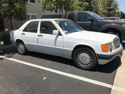 1992 MBZ 190E 26L inline 6 runs good new tires  radiator needs work for smog test many extra