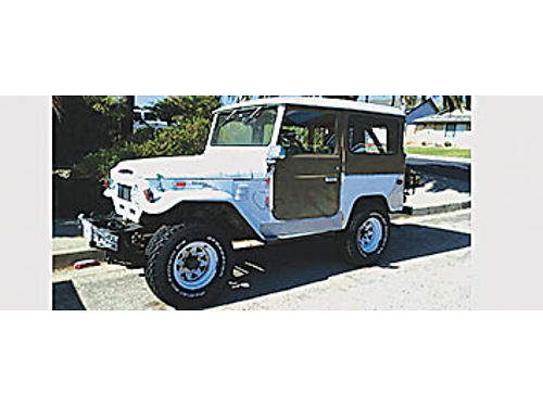 1972 FJ40 TOYOTA LANDCRUISER - No engine has running gear perfect for your style of build In good