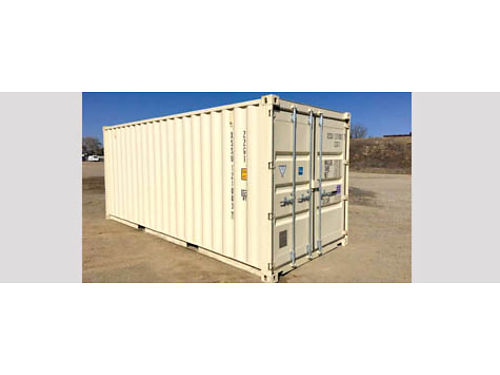 8 X 20 NEW ONE TRIP STORAGE CONTAINER Beige lock box easy open door zerk