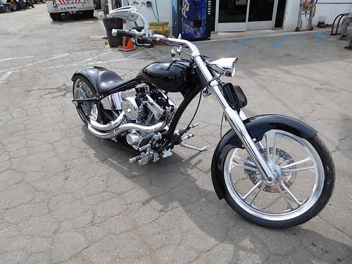 2008 CUSTOM CHOPPER - 96 SS motor 6-speed trans air suspension Mikuni exhaust fat 2404018 ti