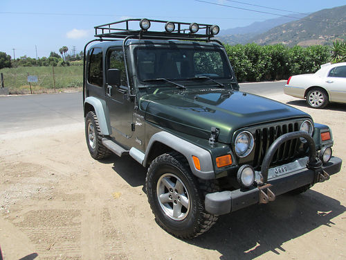 1997 JEEP WRANGLER 4X4 5 spd 42L 6cyl Hard top 150K mi AT tires wgood tread services up to