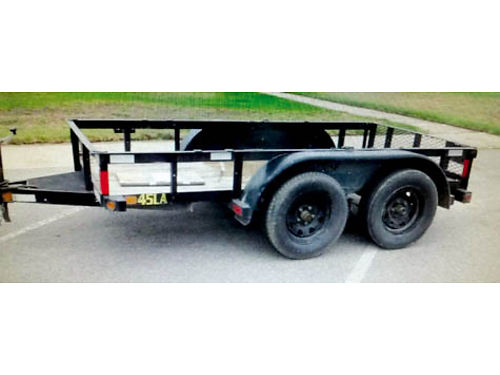 2013 BIG TEX 10 TRAILER 2 3500 lb axles new 15 tires brakes one axle 1900