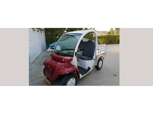 2002 GEM E6 Electric car wflatbed and stakesides 6 new batteries low hours hardly used good co