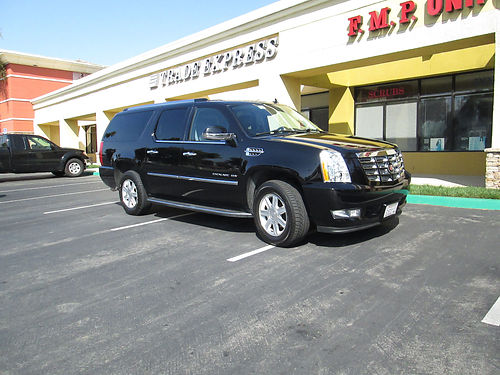 2013 CADILLAC ESCALADE ESV back up camera Navi bucket seats lthr high fwy mi tint AC CD fle