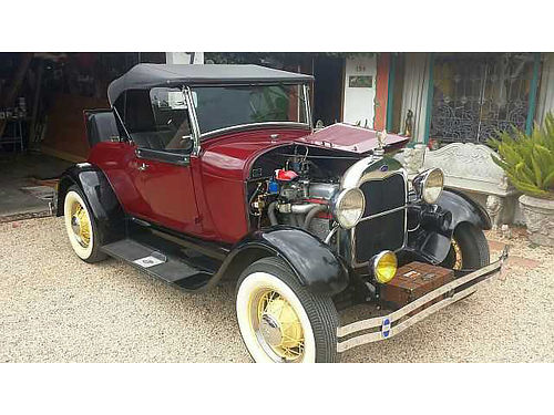 1929 FORD ROADSTER out of 25 year storage maroonblack great seats and top 12V hyd brks engin