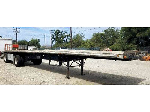 1998 TRANSCRAFT TRAILER 45 spread axle aluminum wheels new tires combo 13000 obo