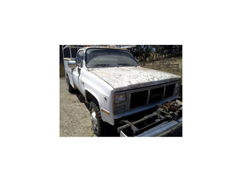 1986 GMC 3500 UTILITY dually 4 spd 454 4x4 locking hubs over 10K GVW PTO winch pintle hitch