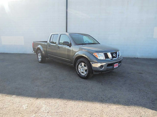 2008 NISSAN FRONTIER CREW CAB SE 435971 auto V6 all pwr AC CD tow pkg new tires bedliner