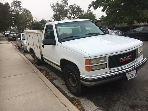 1996 GMC SIERRA 2500 UTILITY auto V8 well maint runs good good cond ready for work se habla e