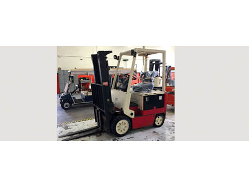 NISSAN FORKLIFT Model CWP02L25S Electric remaining battery charge good 48 forks 2 mast extra