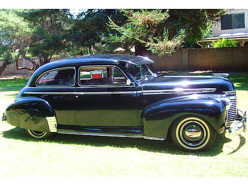 1941 CHEVY 2DR SEDAN Orig reblt 216 eng w300 mi new int rad gas tank 12V batt stereo  split