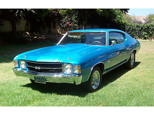 1971 CHEVY CHEVELLE SS clone restored fresh 350 350 B  M shifter buckets console good int P
