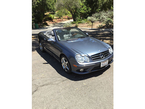 2006 MERCEDES BENZ CLK500 Convt auto fully loaded only 72K miles gray lthr int dlr maint clea