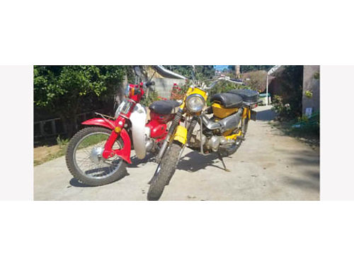 1990  1970 HONDA TRAILBIKES 90 is yellow70 is red buy these 2 -get a 3rd one free all start
