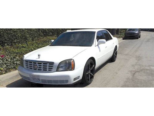 2001 CADILLAC DEVILLE 4dr sedan V8 auto new cust blk whls tires  stereo system pink in hand l