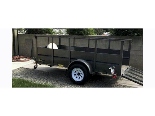 2008 BIG TEX TRAILER 13 w 3 ext loading ramp high rails single axle includes spare covered ti